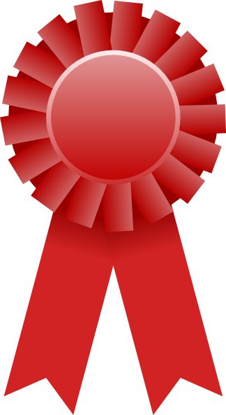 Red ribbon clip art at clker . Download this image as: