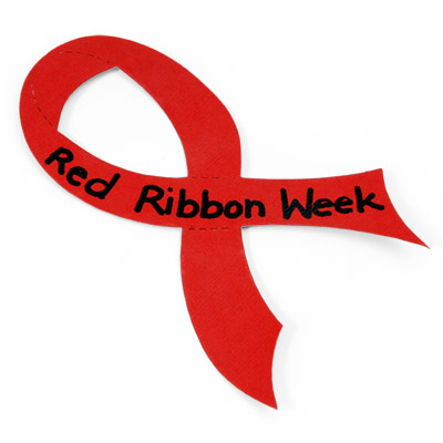 ... Red ribbon week clip art ...
