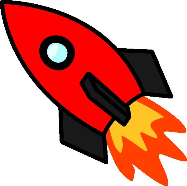 Red Rocket Clip Art At Clker Com Vector Clip Art Online Royalty