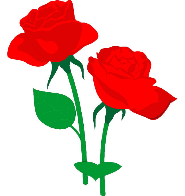 Red Rose Clipart   Free Downl - Rose Clipart