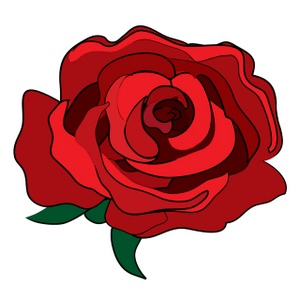 Red Rose Clipart Image