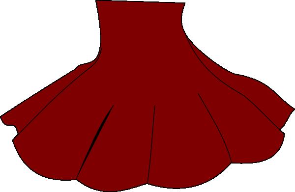 Red Skirt clip art - vector clip art online, royalty free public