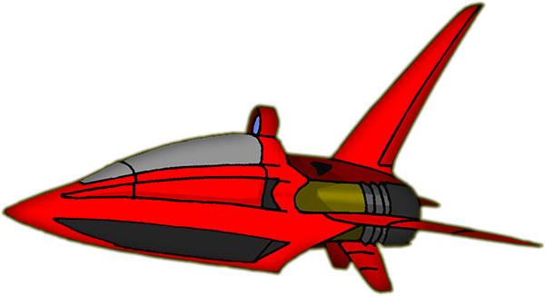 red space craft. Spacecraft ...