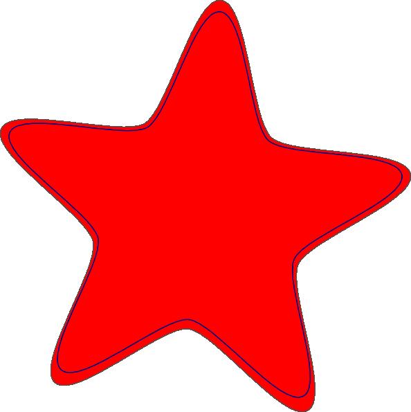 Red Star Clip Art At Clker Com Vector Clip Art Online Royalty Free