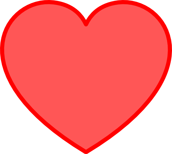 Red With Red Heart clip art .