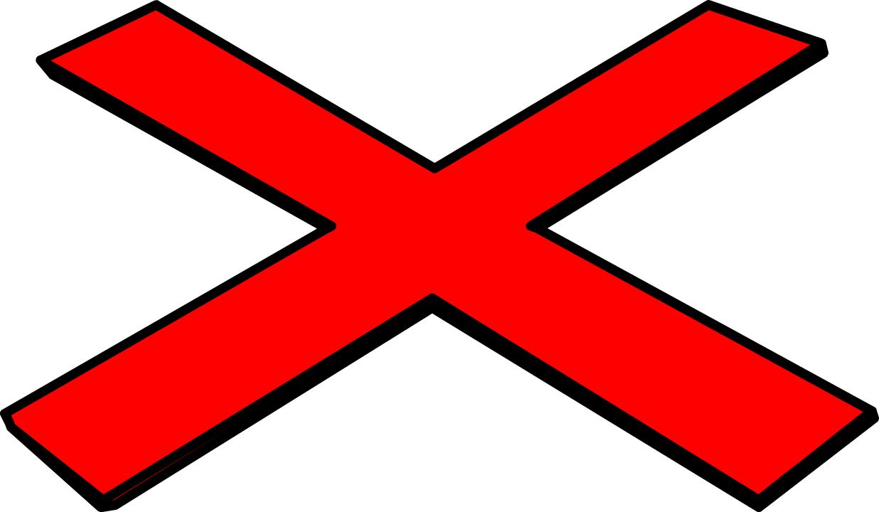 Red X Clip Art