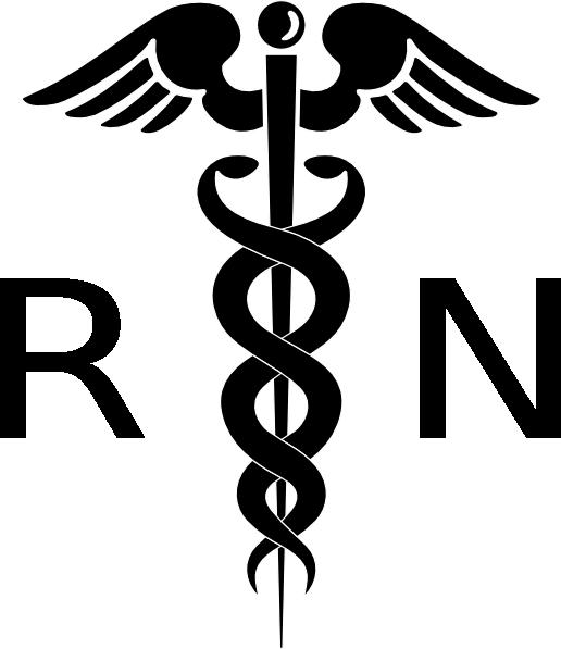 Registered Nurse Clip Art Rn Cadeuces Clip Art Vector