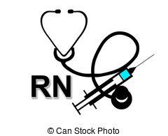 ... Registered Nurse RN sign on white - Registered Nurse RN sign.