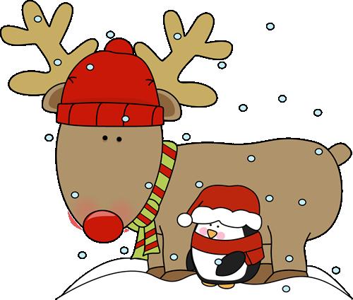 Reindeer and Penguin