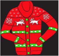 Reindeer cardigan clipart