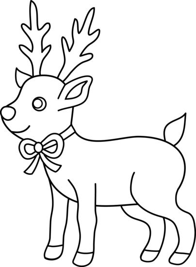 Reindeer Clipart Black And White Clipart Panda Free Clipart Images