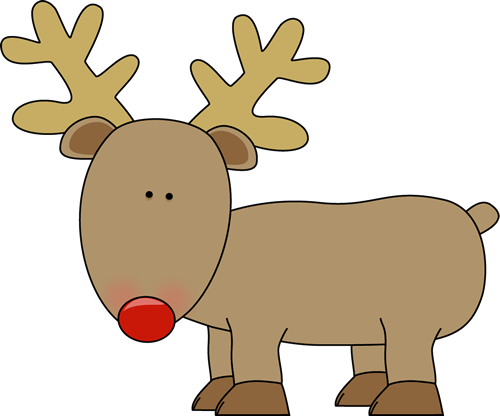 Christmas Reindeer Clipart #1