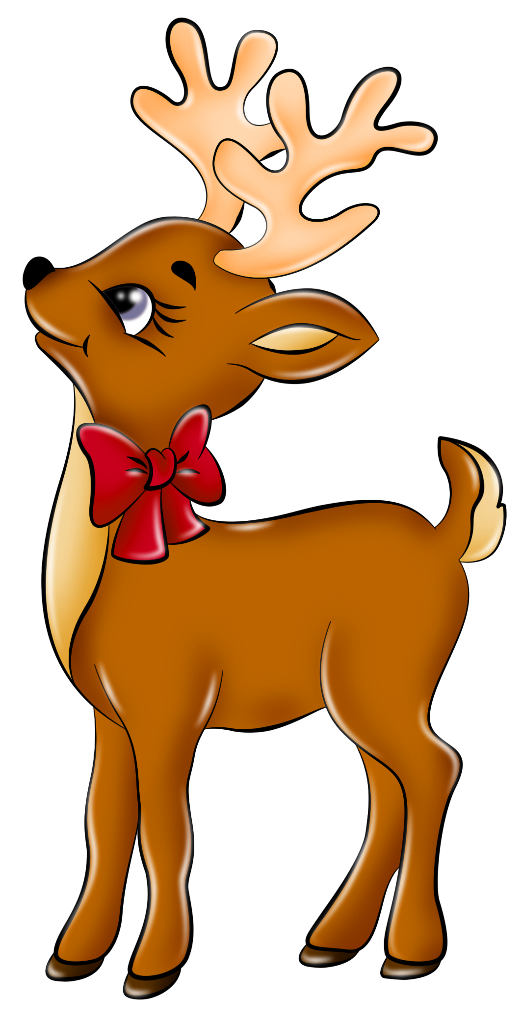 Cute Reindeer Clip Art Clipart - Free Clipart