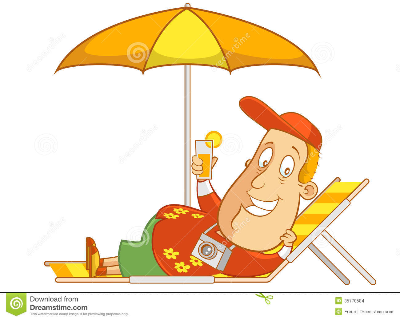 Relaxation Clipart Abe The Tourist Relaxing On