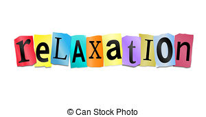 ... Relaxation concept. - Illustration depicting cutout printed.