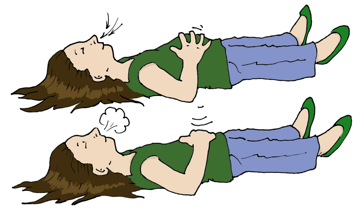 Relaxing Breathe Out Clipart u0026middot; «