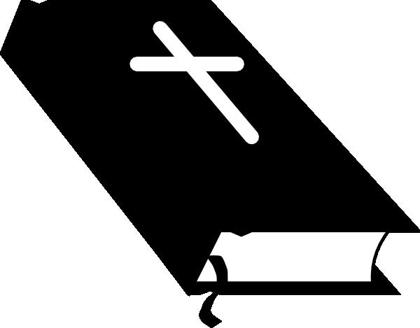 christian symbol black line art for kids | Closed Bible 01 clip art -  vector clip