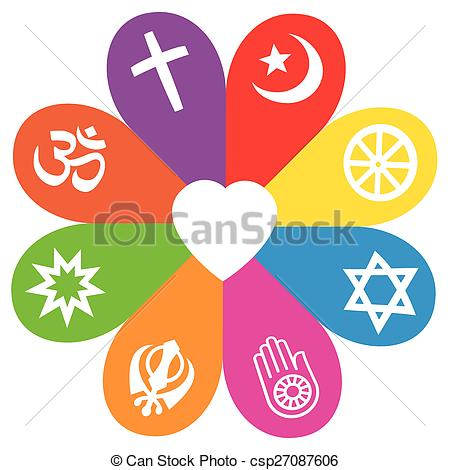 Religion Symbols Flower Love Colors - csp27087606