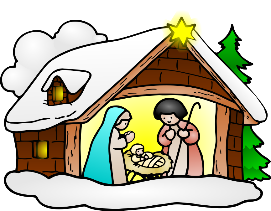 Religious Christmas Clipart .