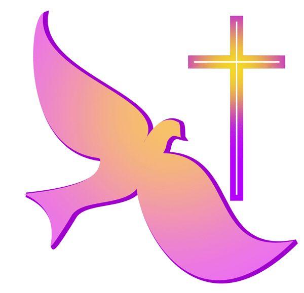 religious clip art free | Christian art: Classic dove and cross symbols of Christian faith