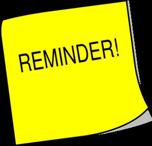 reminder clipart