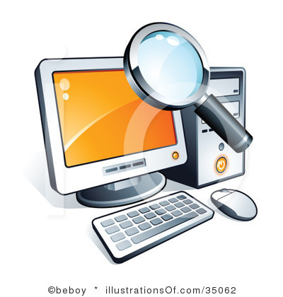 Research Clipart Royalty Free Computer Clipart Illustration 35062 Jpg