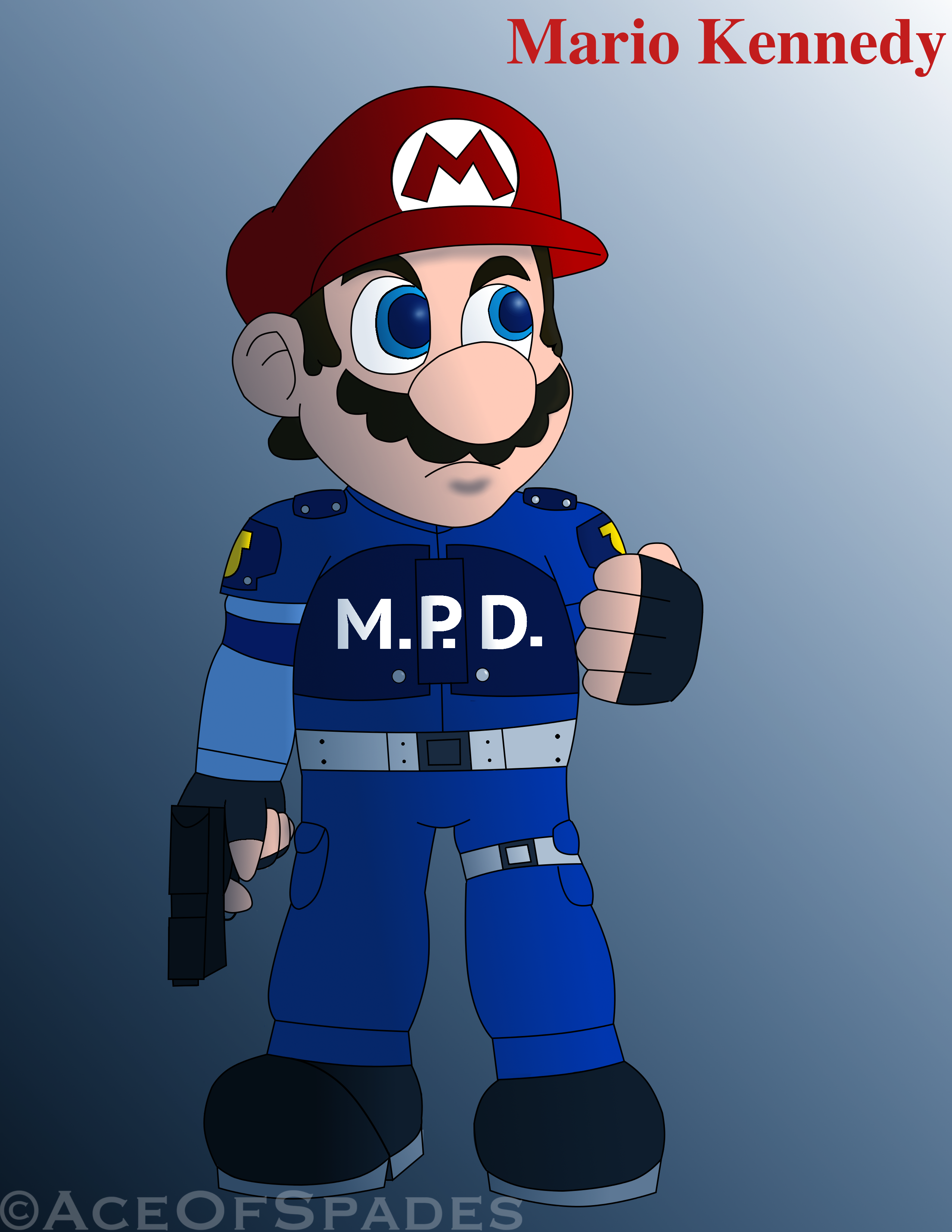 . ClipartLook.com Resident Evil 2- Mario Kennedy by AceOfSpades95