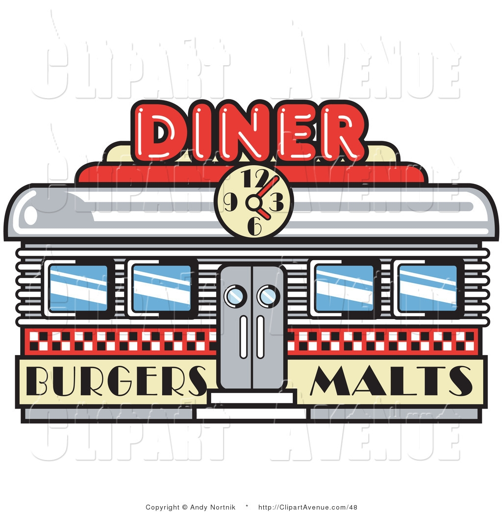 Restaurant Building Clipart