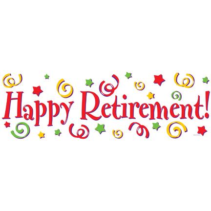 Retirement Banner Clipart .
