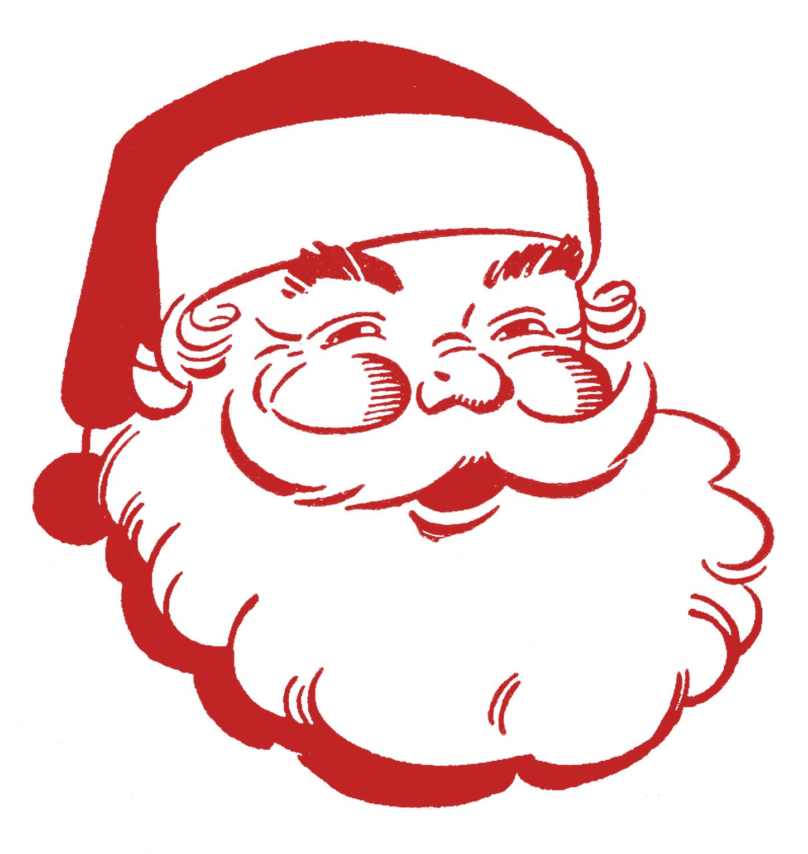 Retro Christmas Clip Art u2013 Jolly Santa