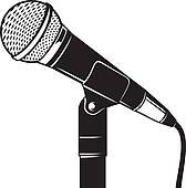 retro microphone stand ...