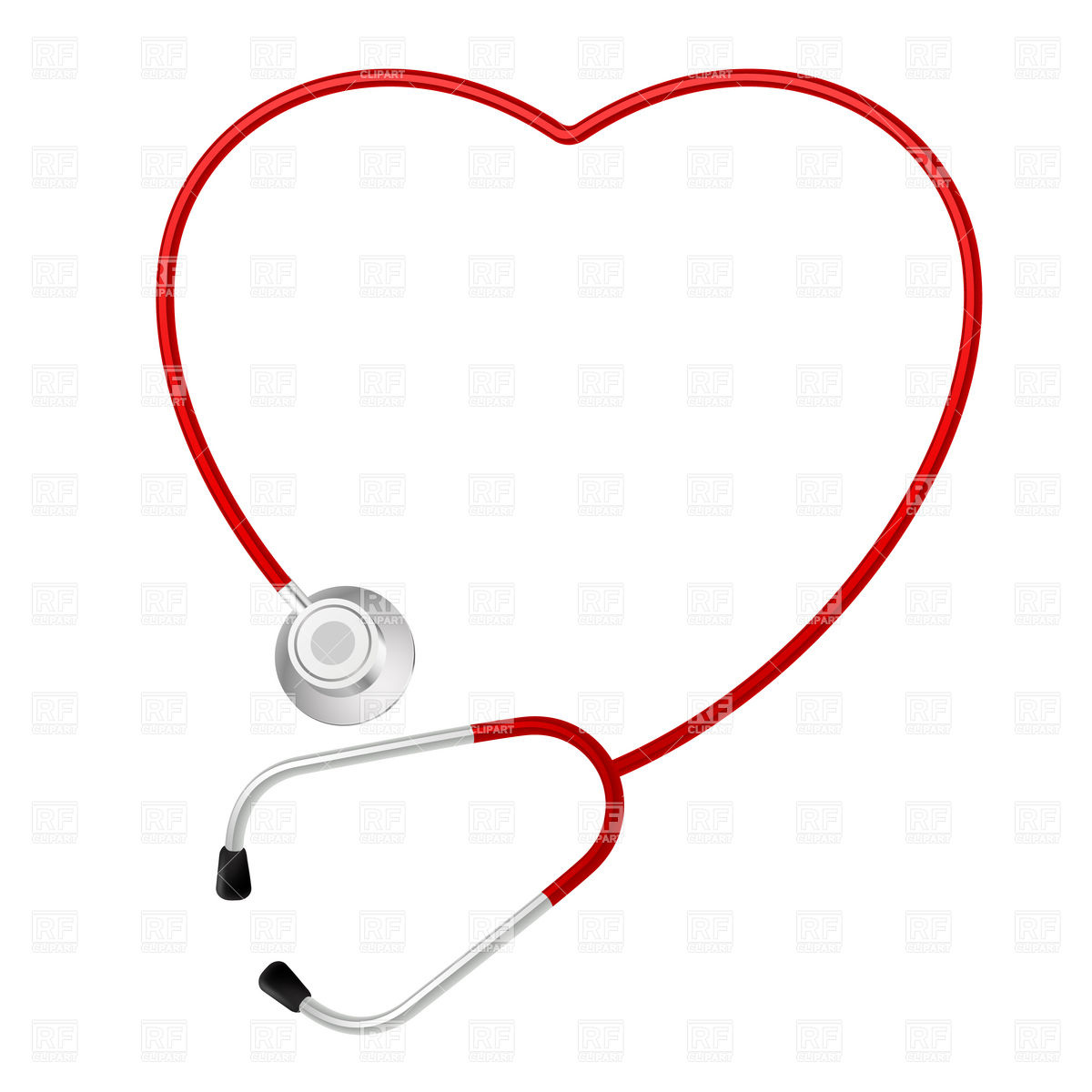 Rfclipart Comheart Shaped Stethoscope Healthcare Medical Download