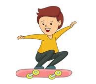 riding skateboard kneeling. Size: 64 Kb