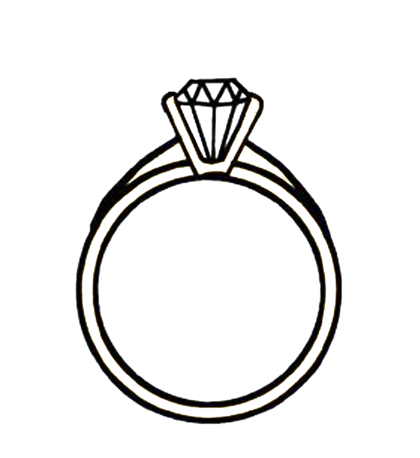 ring clipart black and white