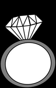 Ring Clip Art. Engagement Ring Vector
