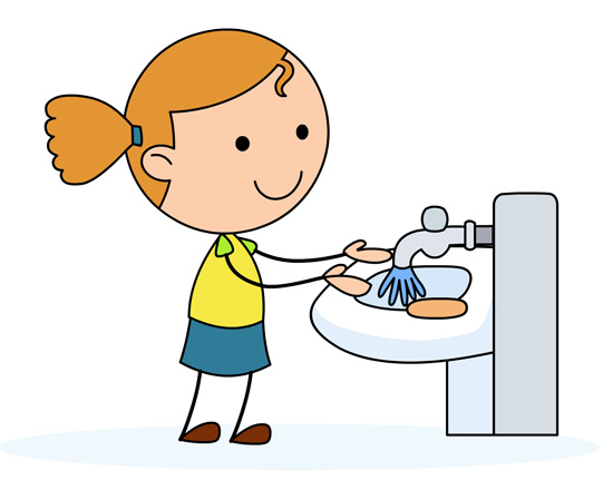 Rinse Hands Clip Art Girl Washing Hands In A Sink
