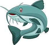 river catfish; cartoon catfish ...