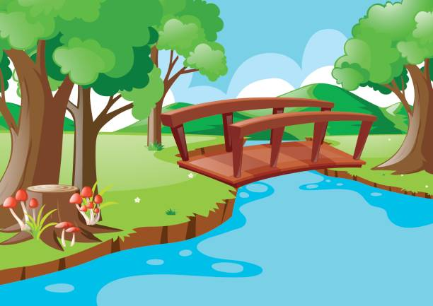 Bridge clipart river #6