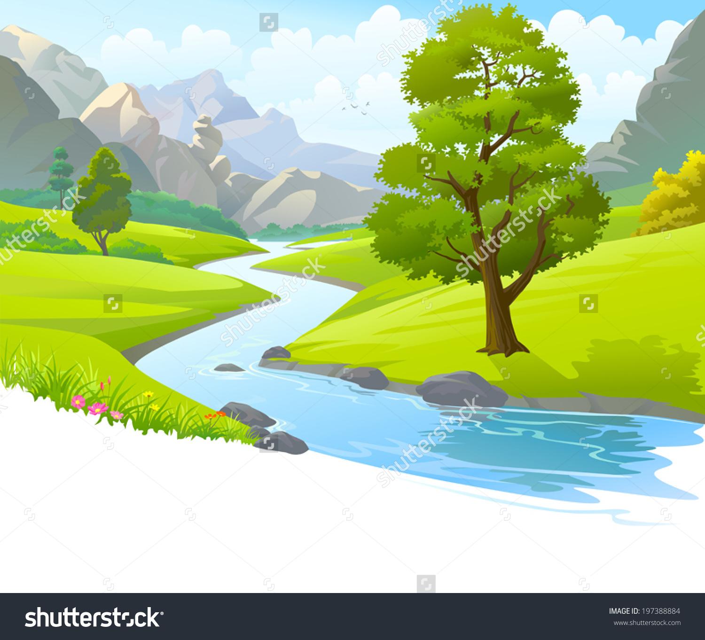 Scenic clipart river #1