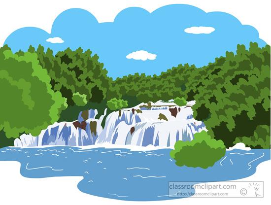 River Mountain Clip Art