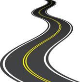Road elements; vector road