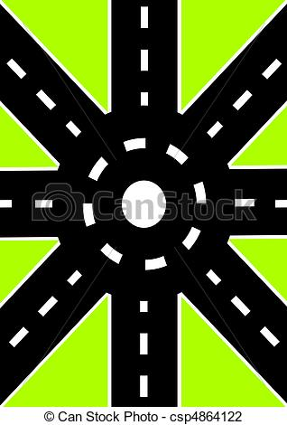 Road junction - csp4864122