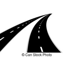 Roads - Two roads with a dividing strip. Road stretching. hdclipartall.com Roads Clipart  hdclipartall.com