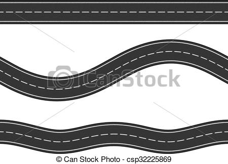 Seamless Horizontal Roads - csp32225869