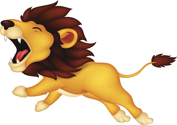 Cartoon Of Female Lion Roar Clip Art, Vector Images .