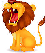 Lion cartoon roaring; Lion cartoon roaring