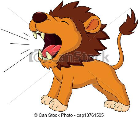 . hdclipartall.com Lion cartoon roaring - Vector illustration of Lion cartoon.