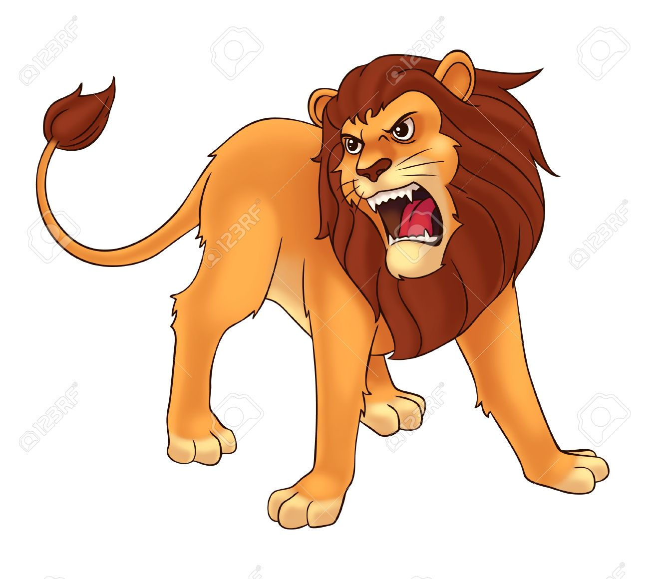 Lion clipart lion roar #14