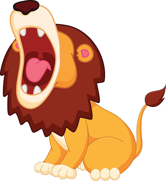 lion roar clipart 2