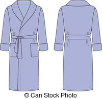 . hdclipartall.com Bathrobe - Vector illustration of menu0027s bathrobe. Front and.